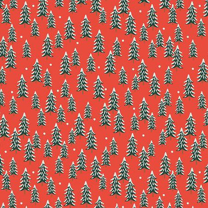 Holiday Classics Fir Trees Red