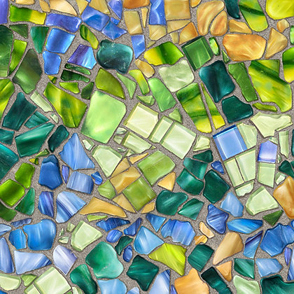 Glass Menagerie Mosaics Blue/Green