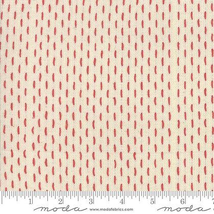French Sashiko/Pearl Red