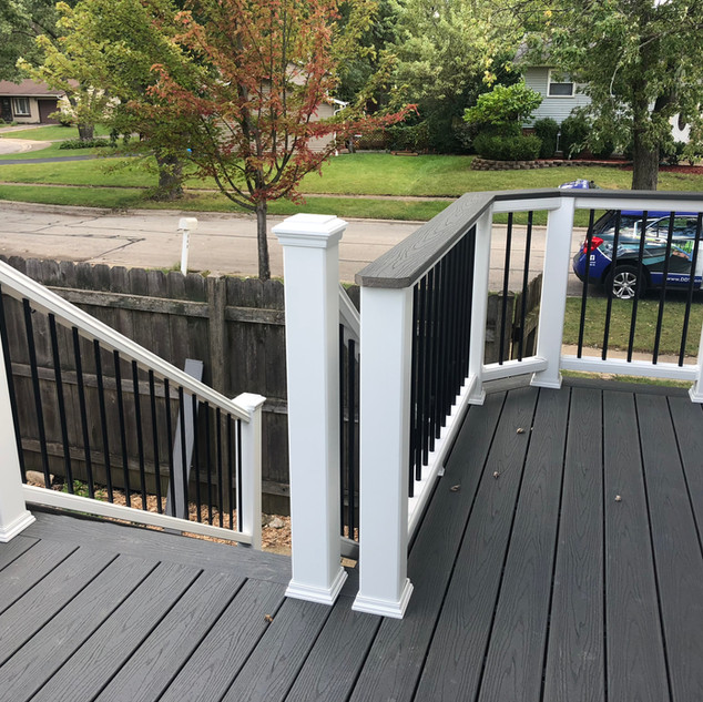 Raised deck and handrail