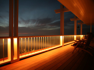Low Voltage Lighting Adds Warmth to Your Composite Deck