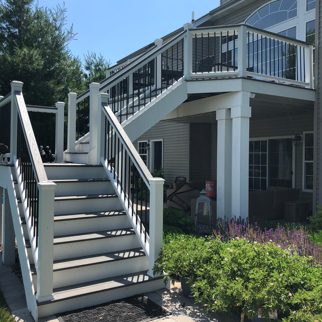 Staircase Addition with Pressure Treated
