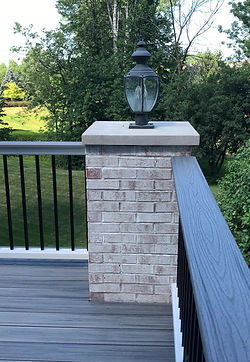 Composite decking allows you more options to match existing brick and stone colors on your home and will look great for many years