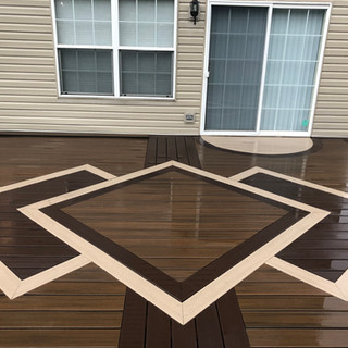 Phase 1 multicolor composite deck with i