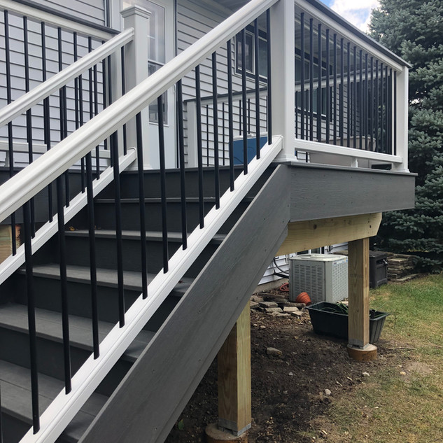 Raised deck and staircase bolingbrook