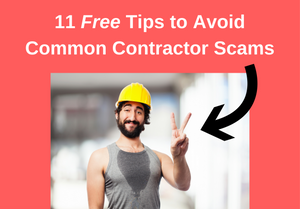 Pictures of contractor making a funny face with the article's title above the picture