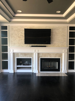 Completed entertainment area