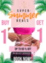 Copy of Summer Deal Buy 1 Get 1 Flyer -