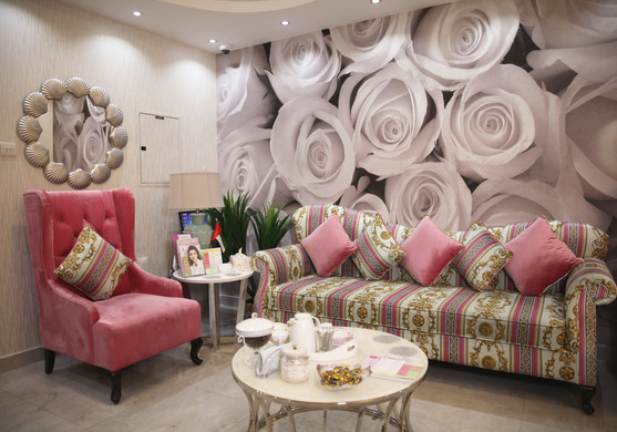Waiting Area of Belle Donne Beauty Clinic at Dr Mulham Polyclinic in Dubai UAE.jpg