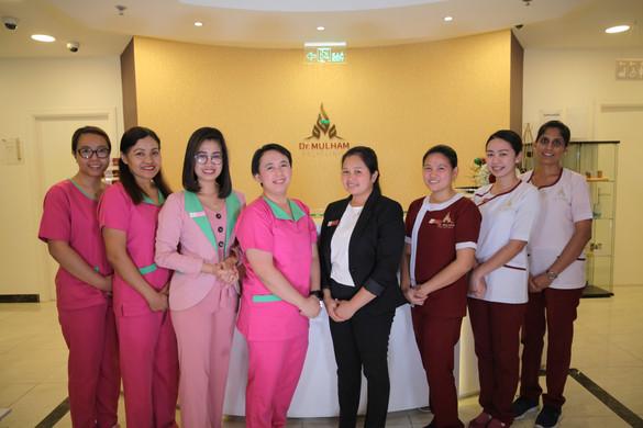 Staff and Nurses at Dr Mulham Polyclinic in Dubai..jpg