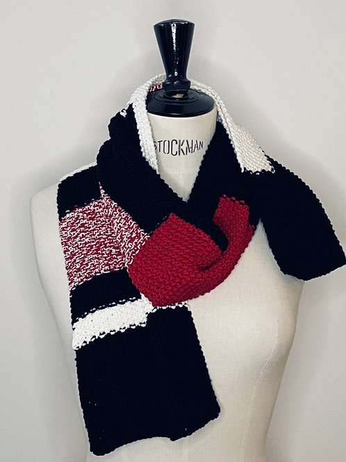 Scarf Black White Red