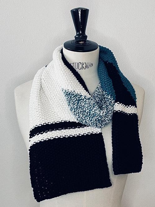 Scarf Black Blue White