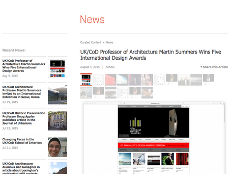 IDA Awards Press Release Published on UK/CoD Website