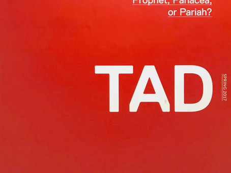 "Martin Summers Reviews ""M"" by Morphosis in TAD Journal, Volume 1: Issue 1"