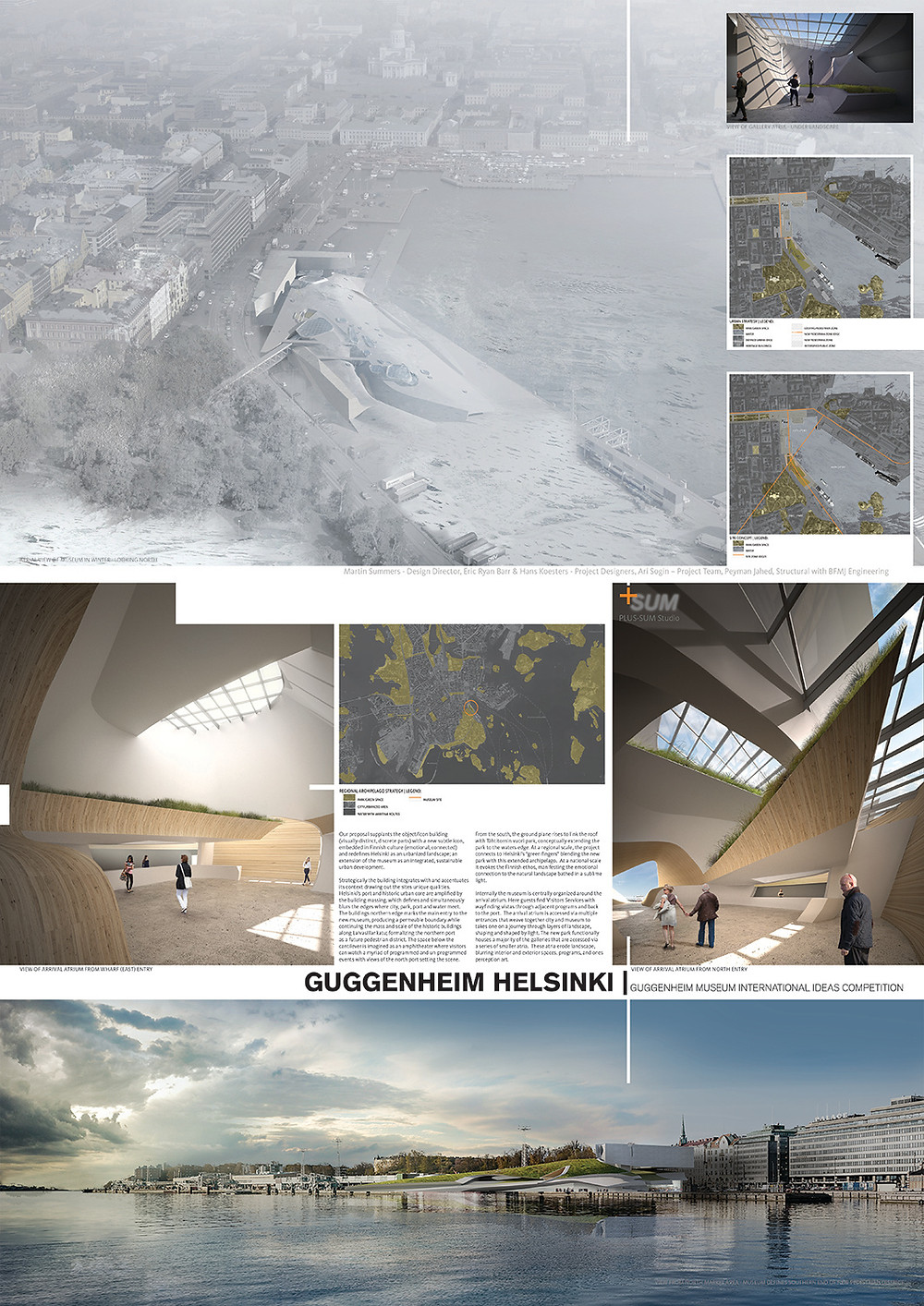 PLUS-SUM Studio - Guggenheim Helsinki Presentation Board for the 2015, KIYFE Exhibition - Seoul, Korea