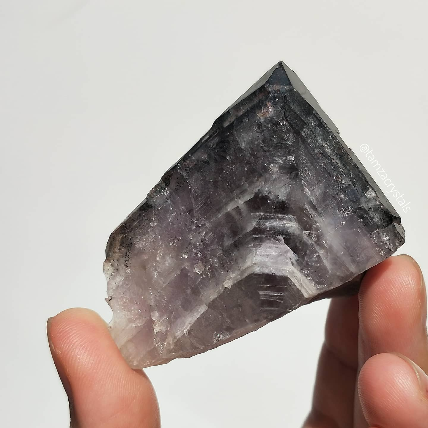 Canadian Black Tip Auralite Amethyst with Chevrons