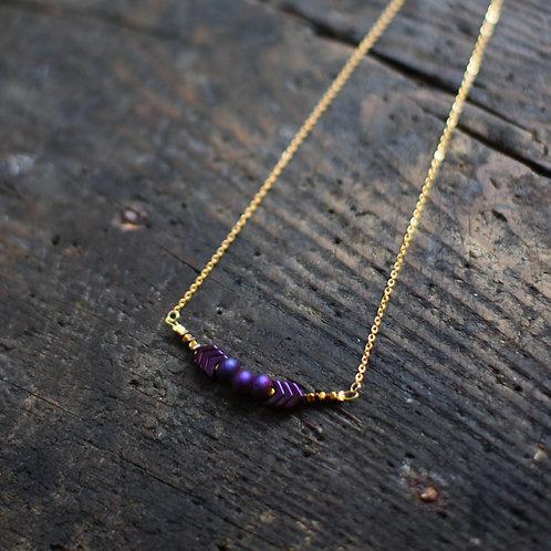 purple - ネックレス