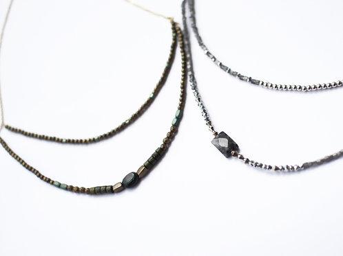 2連 天然石のネックレス