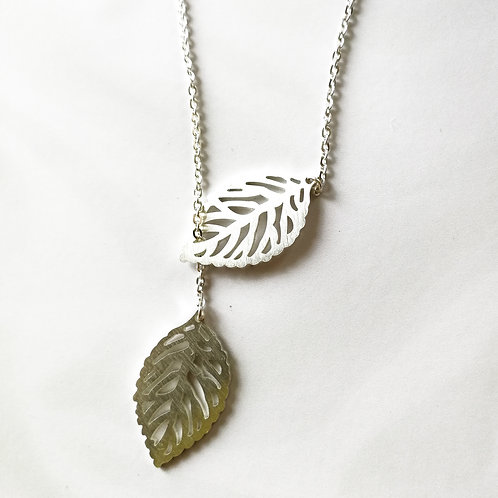 leaf -2枚の葉-silver