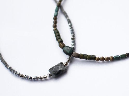 1連 天然石のネックレス
