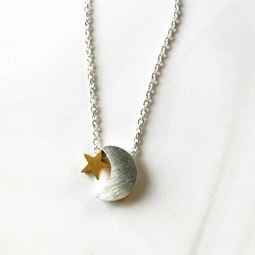 moon & star - silver -