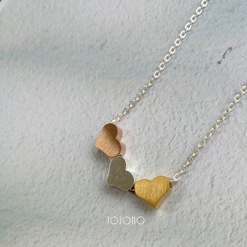 3 heart - silver -