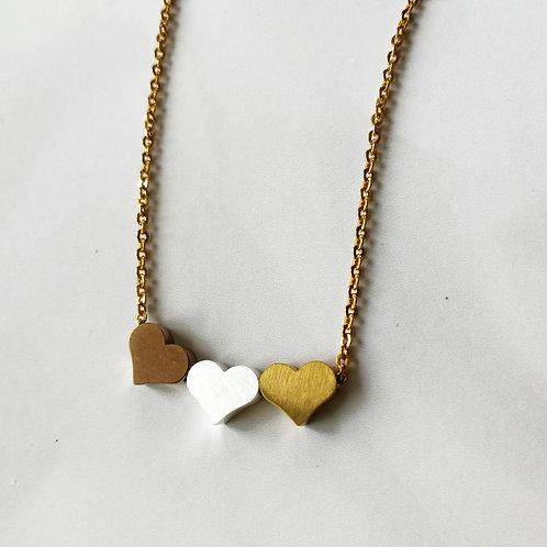 3 heart -gold -