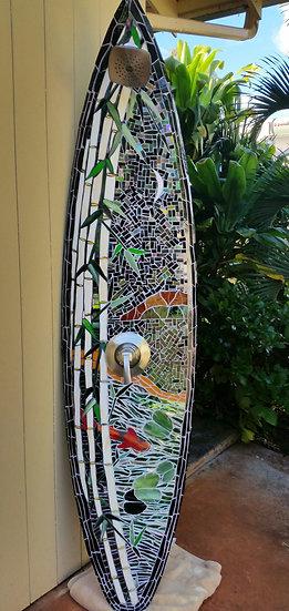 Mosaic Koi Shower Surfboard