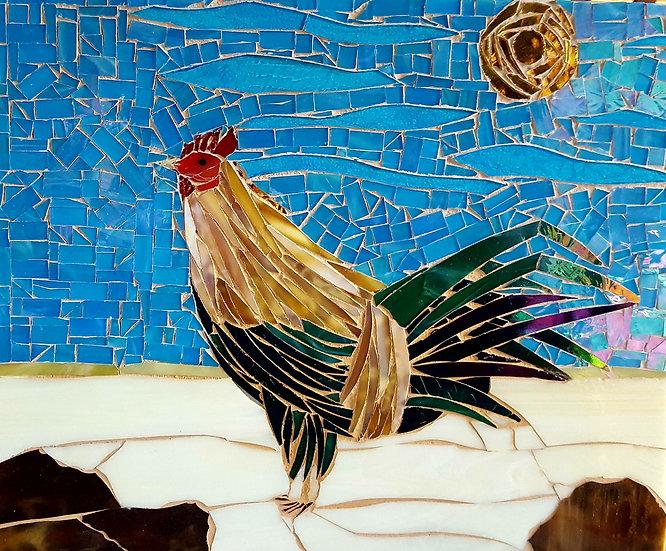 Stained Glass Mosaic Kauai Chicken
