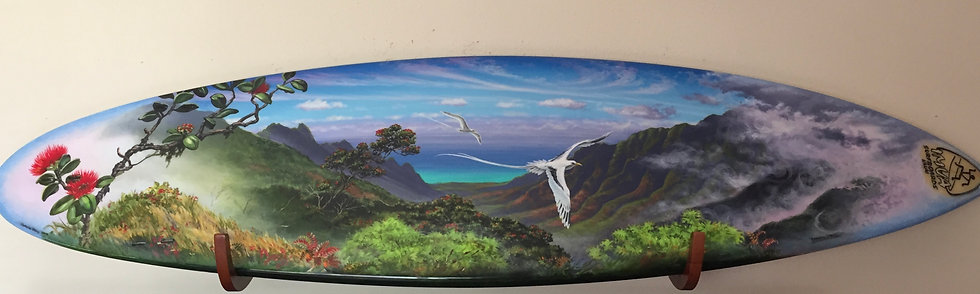 Acrylic Art Surfboard