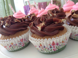 Triple Chocolate Icing on Vanilla Cupcake