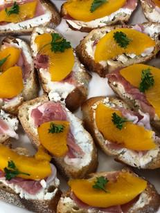 Prosciutto & Peach Baguettes