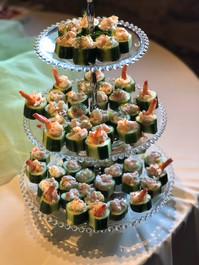 Shrimp Salad in Cucumber Cups
