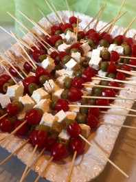 Feta, Olive, and Tomato Skewers