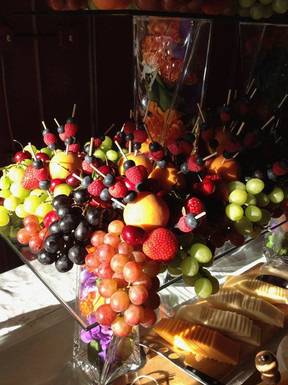 Fresh fruit and cheese display