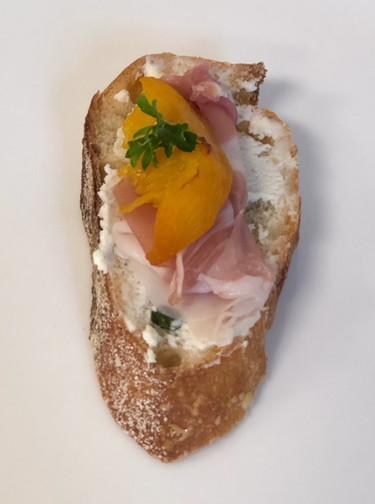 Prosciutto & Peach Baguette