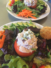 Chicken Salad Stuffed Tomato
