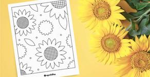 Páginas Para Colorir Gratuitas De Girassol Para Todas As Idades