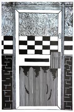 A2 Door Print