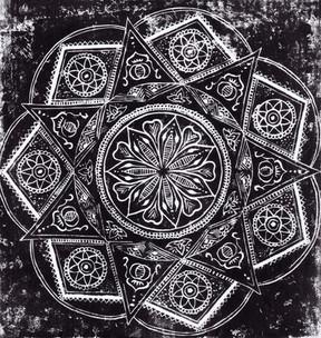 Carved pattern work