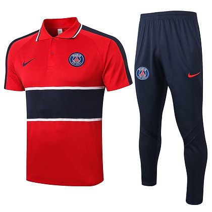 Set Polo PSG - Red/Navy