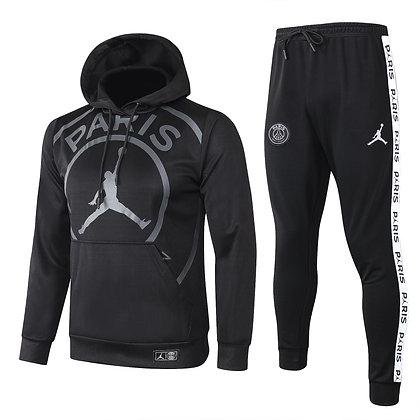 Tuta Rappresentanza con Cappuccio PSG Jordan - Black