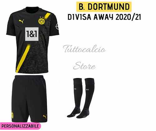 Divisa Away Bambino Borussia Dortmund 20/21