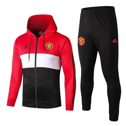 Tuta con Cappuccio Manchester United - Red/Black