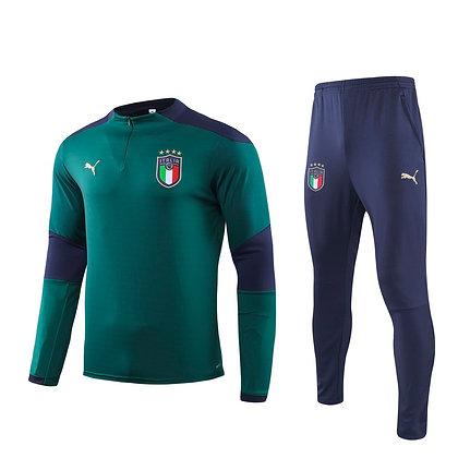 Tuta Training Italia - Green/Navy