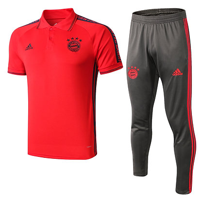 Set Polo Bayern Monaco - Red/Black