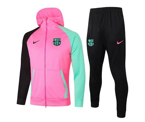 Tuta Fleece Pink - Barcellona - Green/Black