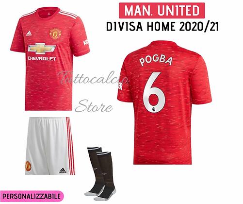 Divisa Home Bambino Manchester United 20/21