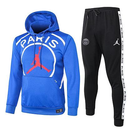 Tuta Rappresentanza con Cappuccio PSG Jordan - Blue/Black