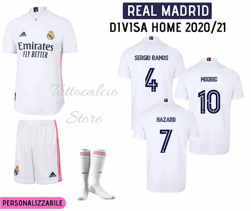 Divisa Home Bambino Real Madrid 20/21